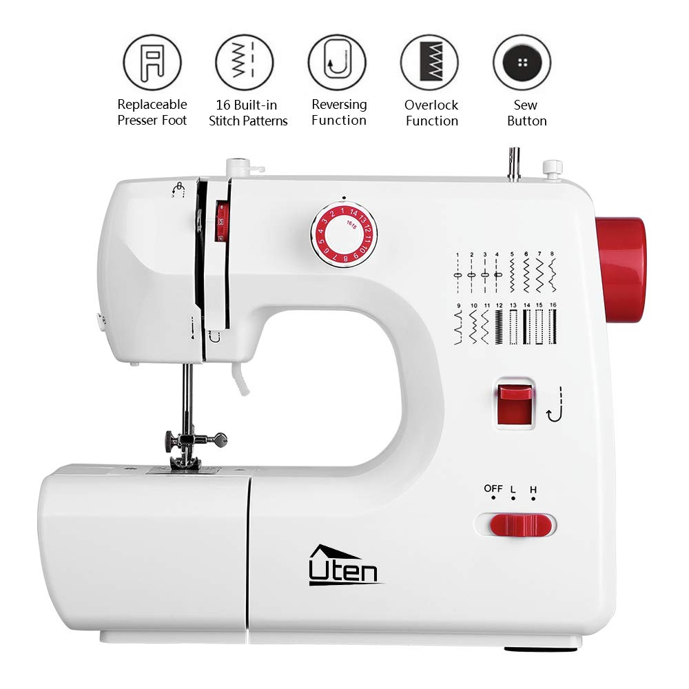 Amazon.com: Kranich Sewing Machine 2 Speed 16 Stitches Double Thread Needle Portable Sewing Machine 24W: Home & Kitchen