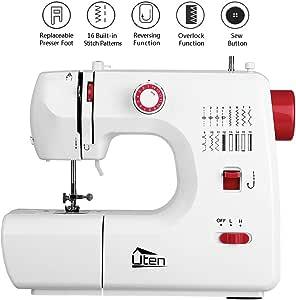 Uten Mini máquina de coser con 16 programas de puntadas para ...