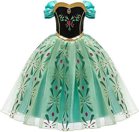 Princesa Disfraz Ana Elsa Frozen Niña Princesa Anna Cosplay ...