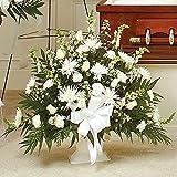 PlantShed - Heartfelt Tribute Floor Basket - Flower Hand Delivery in NYC Local Manhattan Florist