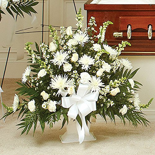 PlantShed - Heartfelt Tribute Floor Basket - Flower Hand Delivery in NYC Local Manhattan Florist by Plantshed