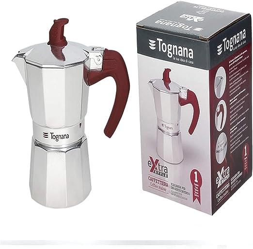 Tognana Cafetera pequeña para 1 taza Extra Style Aluminio Moka ...