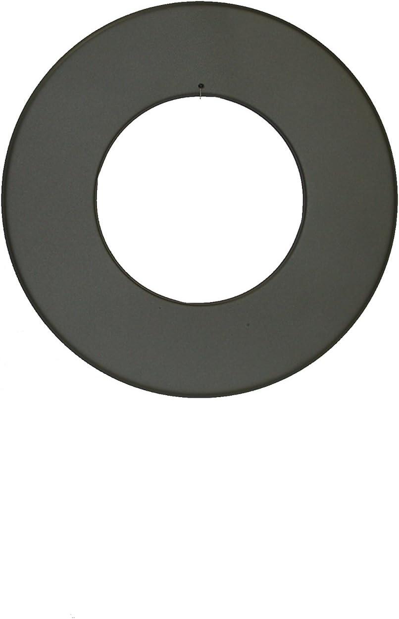 Pelletrohr Ofenrohr Pellet Rauchrohr Kaminrohr Mauermuffe Rosette Doppelmuffenrohr Rohrhalteset /Ø 100mm grau schwarz Rosette Rand 30 mm, schwarz