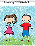 #6: Handwriting Practice Paper: Blank Handwriting Book For Kids: Pre K, Kindergarten, Ages 2-4, 3-5, 100 Pages Of Blank Sheet, 8.5