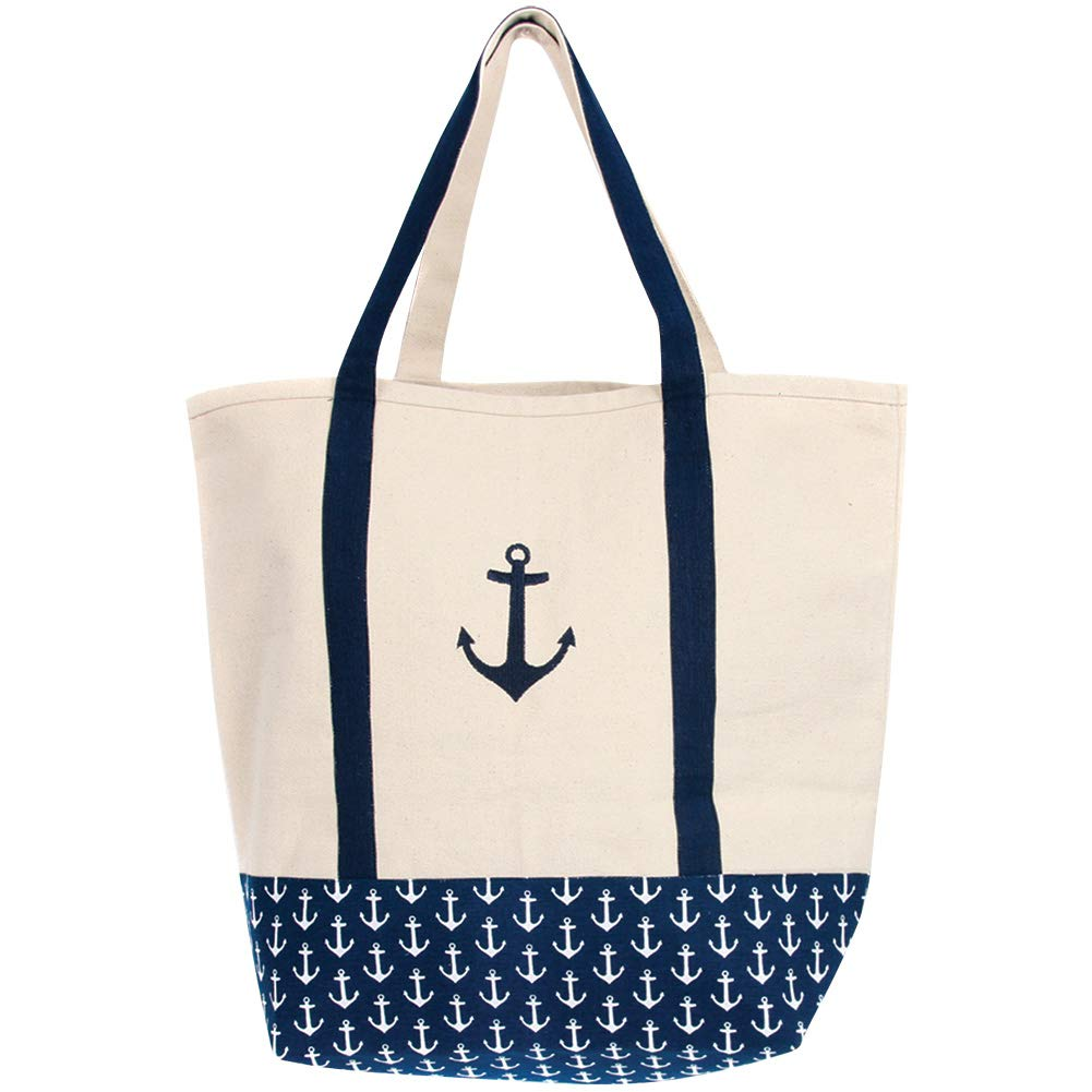 cf9739233984 Latitude 38 Large Canvas Anchor Tote Bag, Beach, Pool, or Market