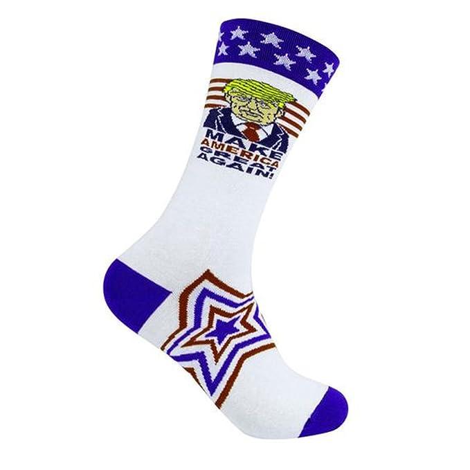 Hacer América gran nuevo Donald Trump blanco calcetines fabricado en los Estados Unidos: Amazon.es: Ropa y accesorios