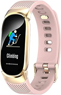Fitness Tracker, Fashion Smart Wristband Color Screen IP67 Waterproof Heart Rate Monitor, Compatible Android iOS