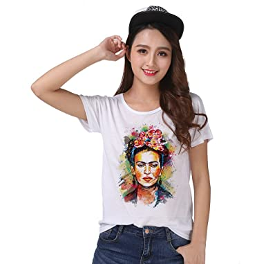 986512aa1ae ZYOPP T-Shirt Top Tee Painter Magdalena Carmen Frida Kahlo 0661 at ...