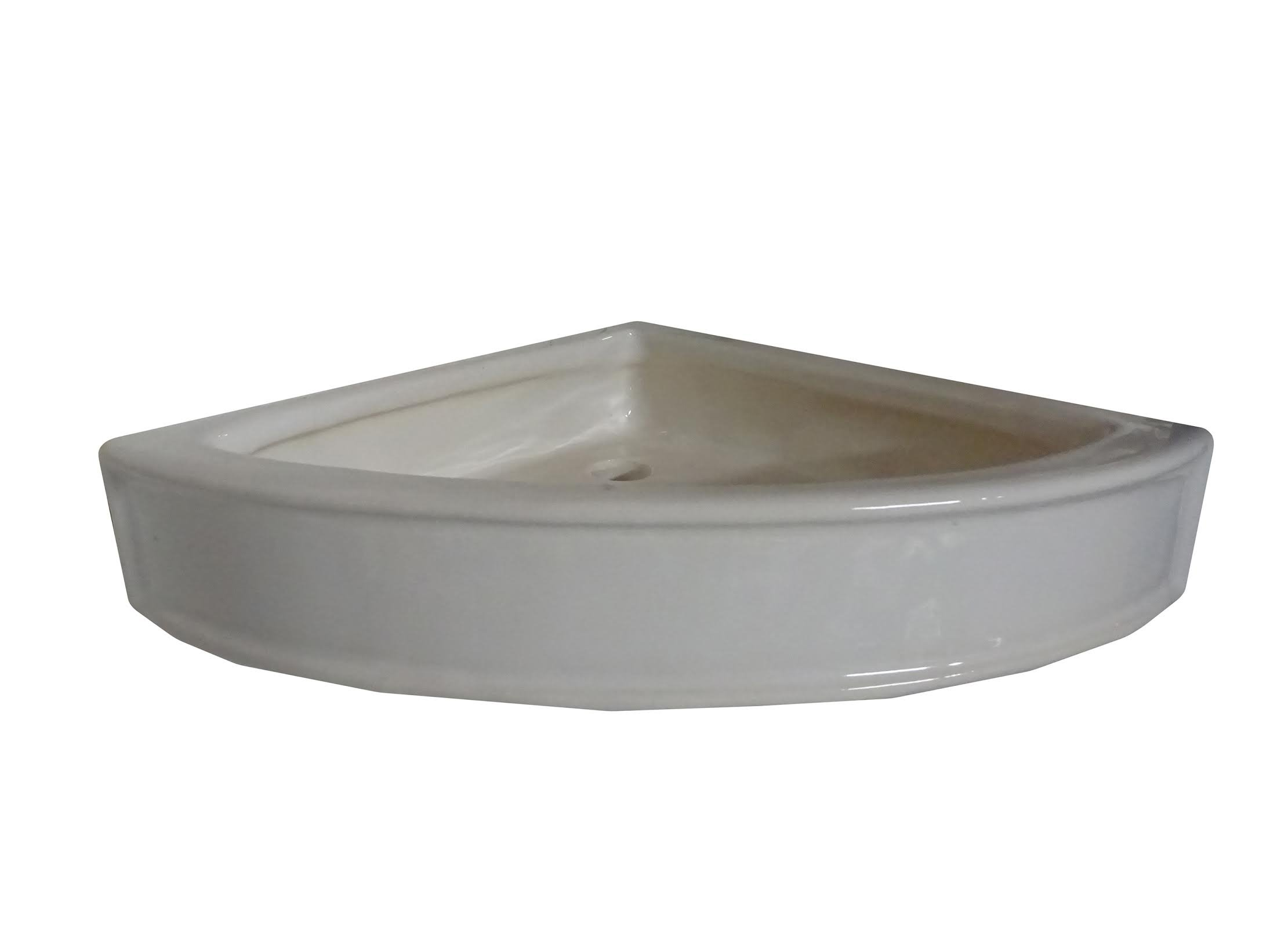 Art in Sink 2CB8/2001 Barthroom Corner Wall Basket Ceramic 8'' Shower, White by Art in Sink