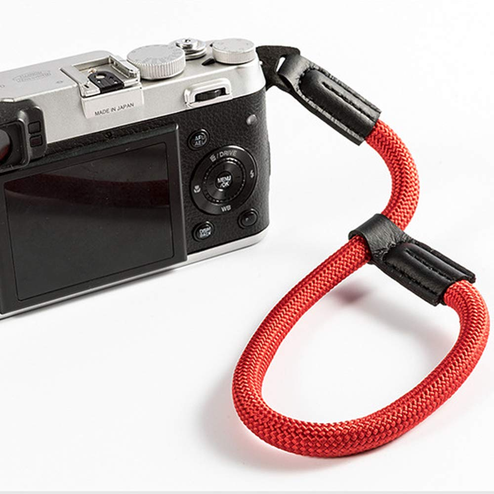 LXH Correa de mu/ñeca de nylon de mano de c/ámara Correa de c/ámara ajustable para Sony NEX Leica Canon Nikon Panasonic Fujifilm Olympus Pentax Samsung C/ámaras compactas sin espejo rojo
