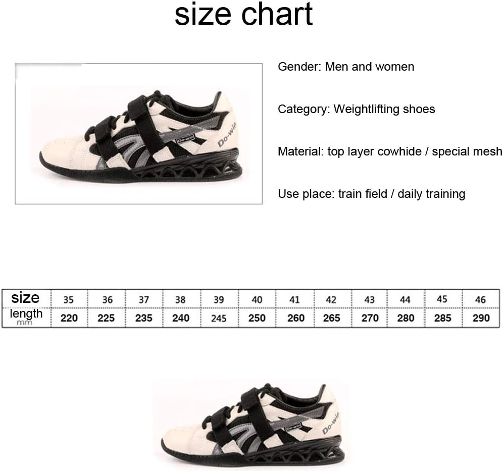 Chaussures Squat Professionnel pour Les Hommes Et Les Femmes Antid/érapantes Sport De Formation De Comp/étition L/ég/ère Dabsorption De Choc Chaussures,35 AIALTS Chaussures Halt/érophilie