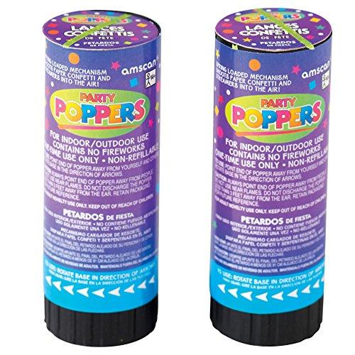 Confetti Poppers Party Accessory (1 ct.,12 pieces per ct.) -