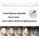 Wireless LED Mirror Lights,Portable Vanity lights | Simulated Daylight | 4 Brightness Level Touch Control | Rechargeable,Makeup Light Includes Makeup Eye Brush