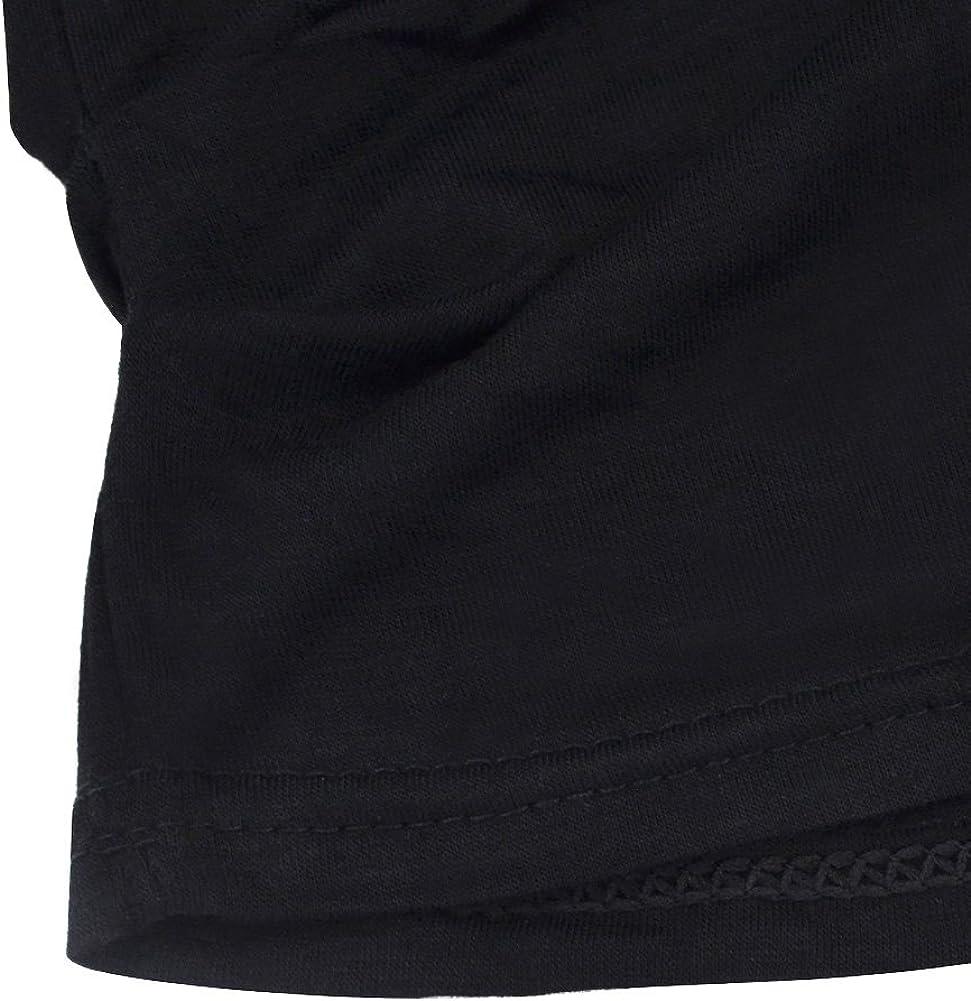 Ranphee Mujer Manga Corta Camiseta Hombro Fr/ío Suelto T-Shirt Cuello Redondo Tops