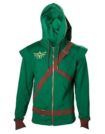 68bd5514b735c The Legend of Zelda - Sweat-shirt à capuche - Homme vert Vert/marron ...