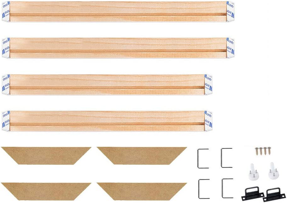 WITUSE Wood Stretcher Bars Painting Canvas Wooden Frame for Gallery Wrap Oil Painting,Prints Stretcher Bars,Canvas Mounting Strips Kits,39x39