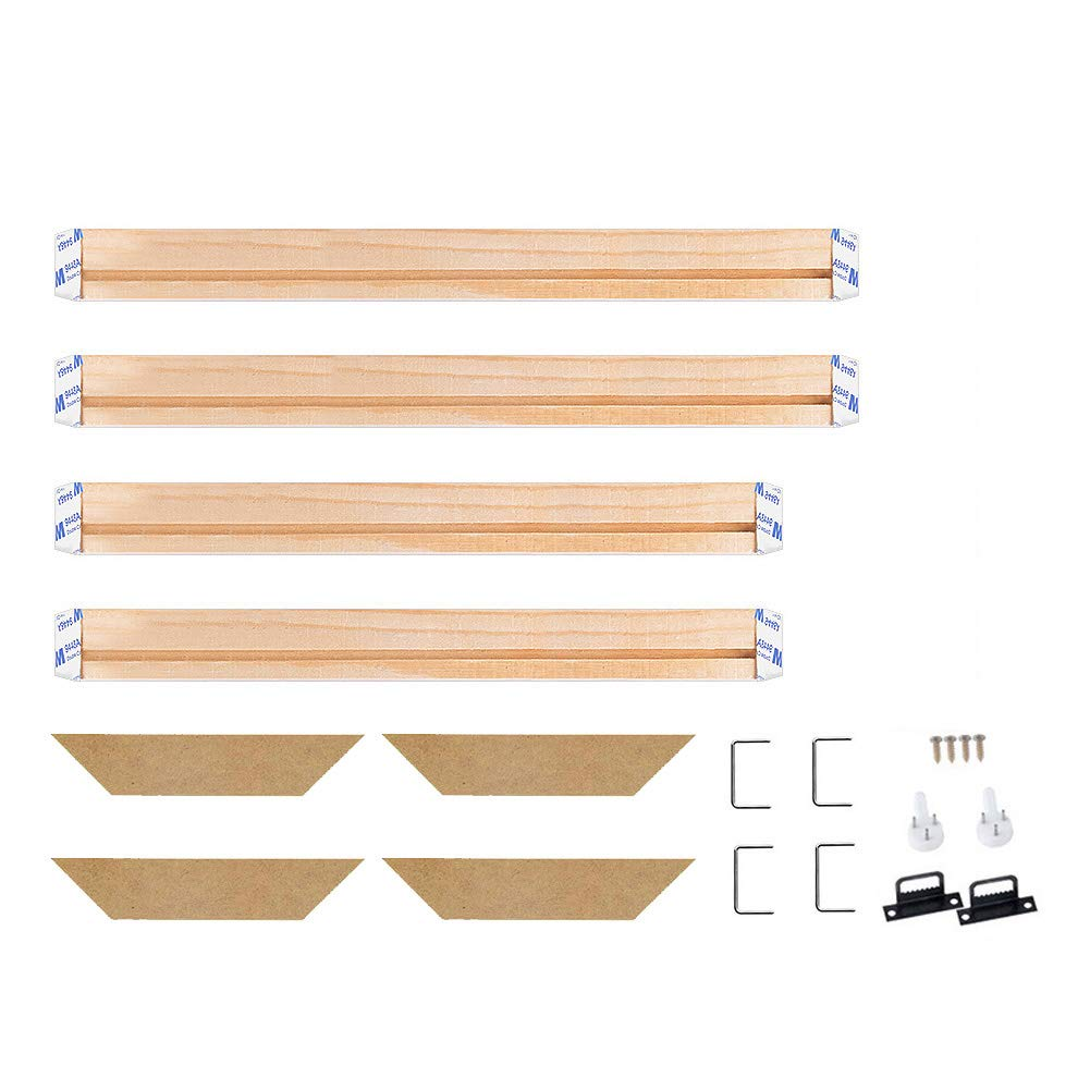 WITUSE Wood Stretcher Bars Painting Canvas Wooden Frame for Gallery Wrap Oil Painting,Art Stretcher Bars,Canvas Mounting Kit-16''x20'' by WITUSE