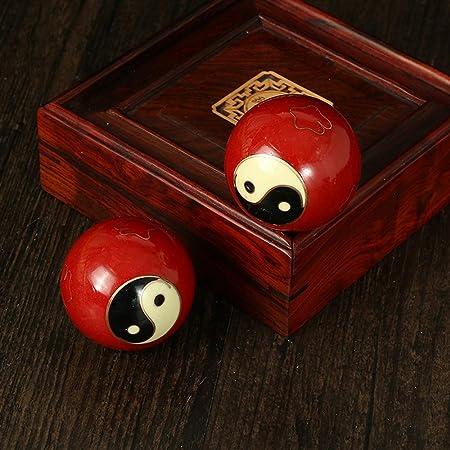 HEALLILY 1 Paire de Massage en Bois de Rose balles Baoding Boules de Main Naturelle Boules de Soins de sant/é Chinois