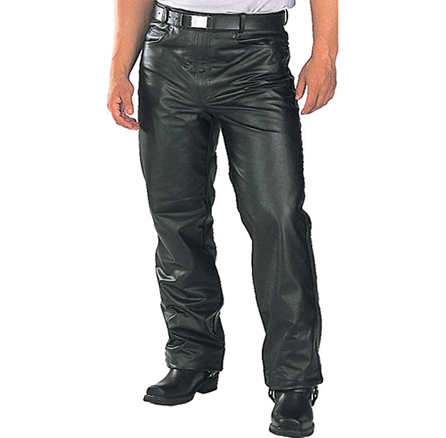Mens Classic Soft Cow Hide Leather Pants