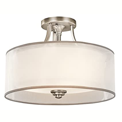 Kichler 42386ap lacey semi flush 3 light antique pewter semi kichler 42386ap lacey semi flush 3 light antique pewter aloadofball Gallery