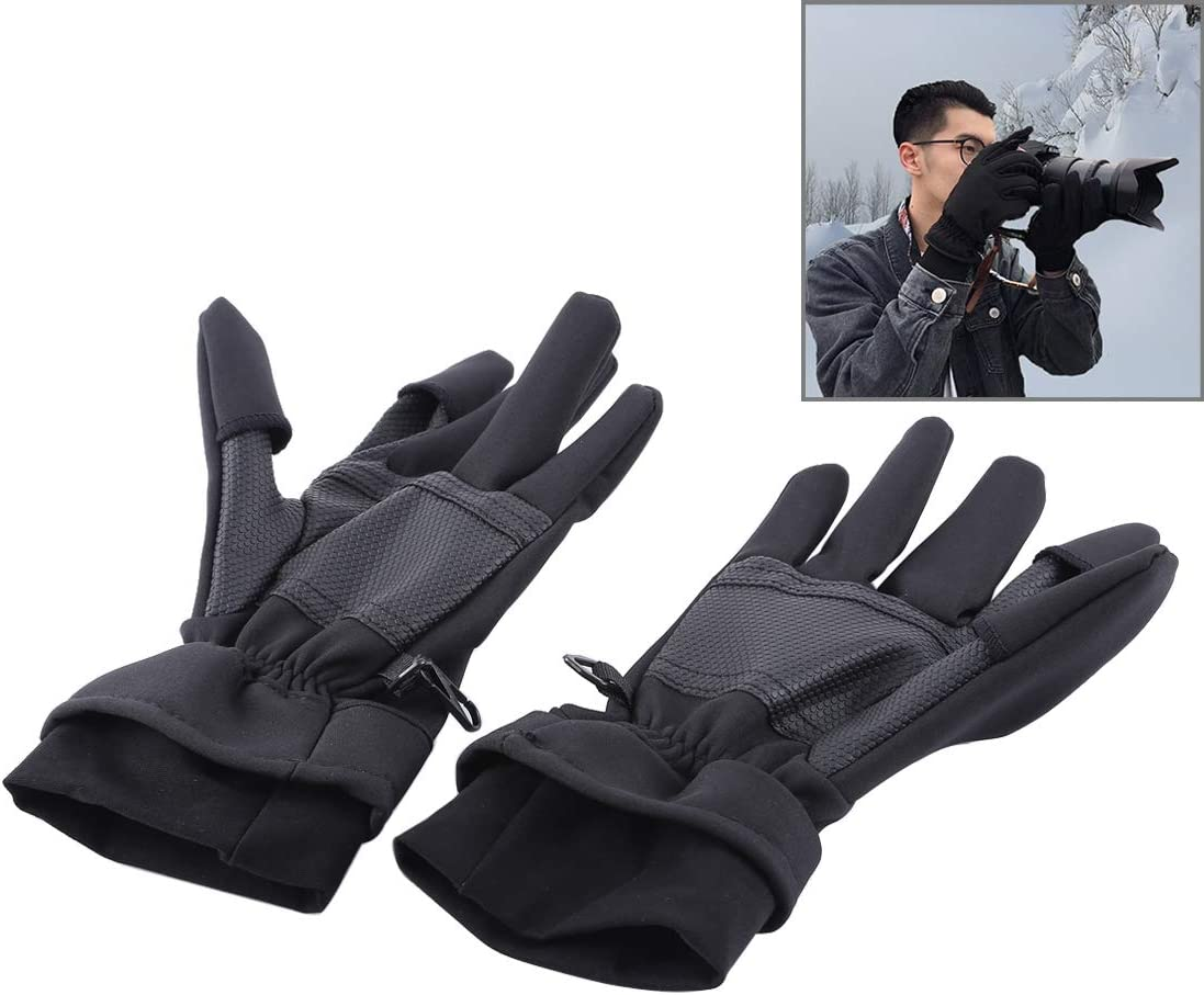 Size L MEETBM ZIMO,Outdoor Sports Wind-Stopper Full Finger Winter Warm Photography Gloves