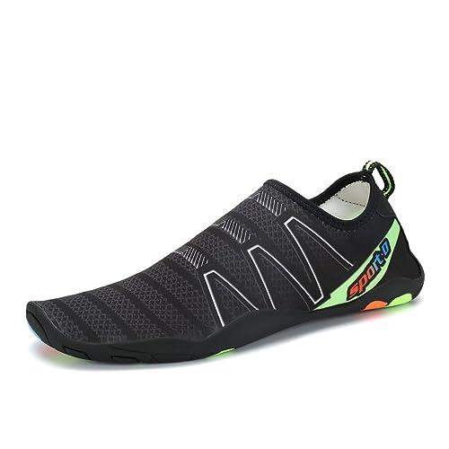 Voovix Aqua Shoes Escarpines Hombres Mujer Zapatos de Agua Zapatillas Ligeros de Secado Rápido Para Swim