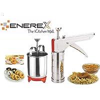 Enerex The Kitchen Mall, Combo of Stainless Steel Kitchen Press & Menduwada Maker