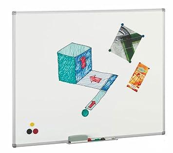 Pizarra blanca magnética vitrificada Faibo 122x150cm