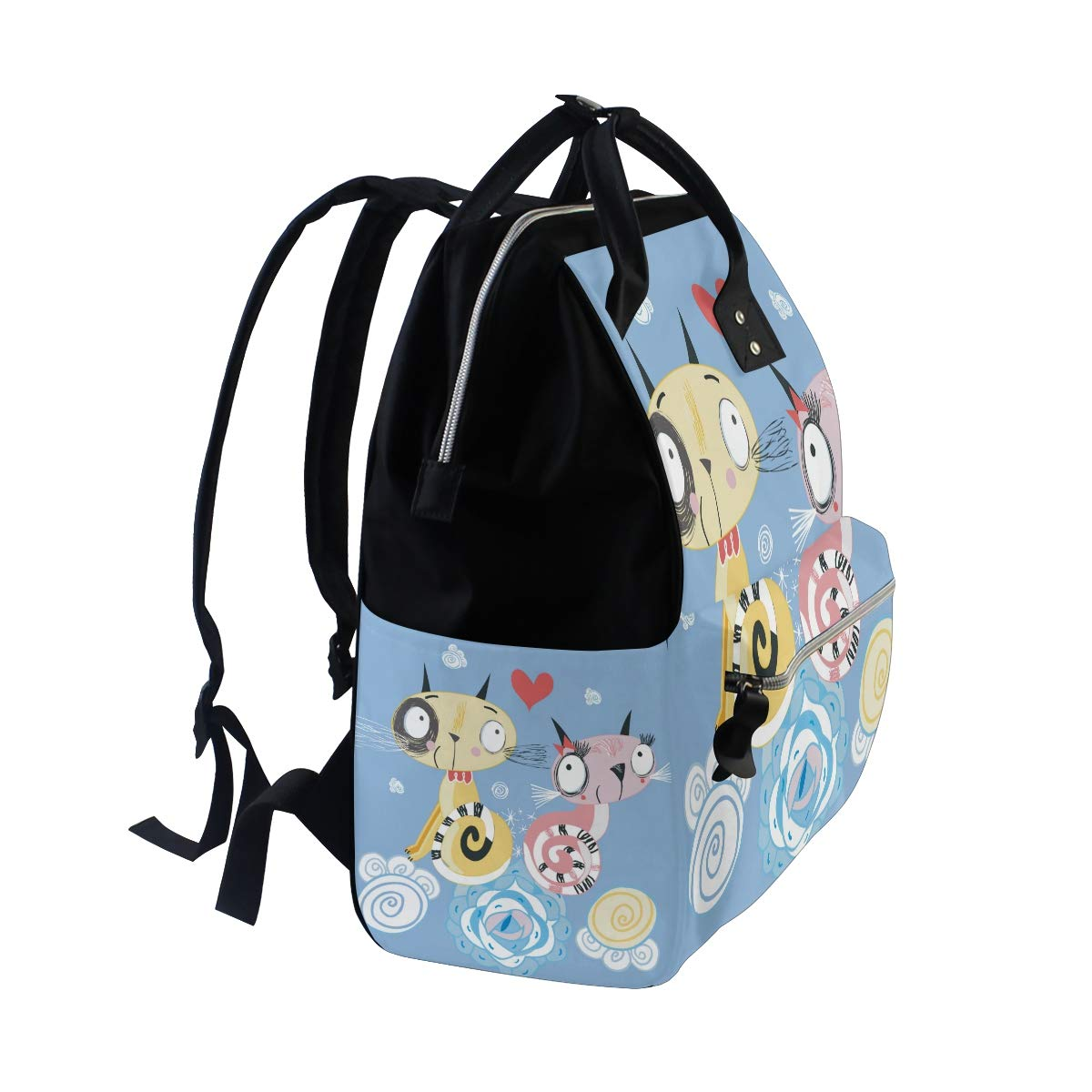 a1d7019abd53 Amazon.com   Cat Kitty Cute Diaper Bag Backpack Mom Bag Casual Lightweight  Large Capacity for Travel Mammy Women Girls   Baby