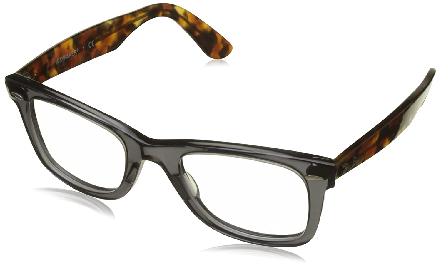 d59e620539 Amazon.com  Ray-Ban RX5121 Wayfarer Eyeglasses Opal Grey 50mm  Clothing