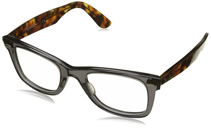 a081e05c95 Amazon.com: Ray-Ban RX5121 Wayfarer Eyeglasses Opal Grey 50mm: Clothing