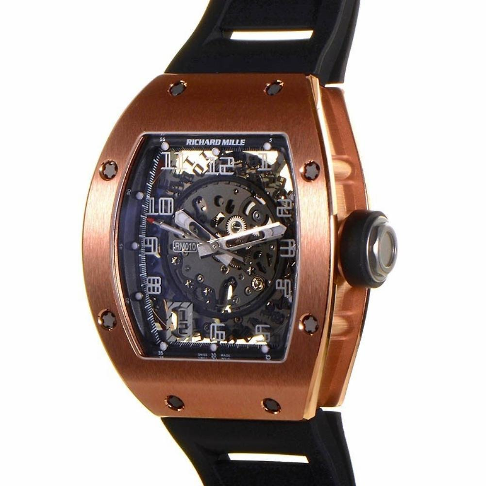 Richard Mille RM 010 automatic-self-wind Mens Reloj RM 010-rg (Certificado) de segunda mano: Richard Mille: Amazon.es: Relojes