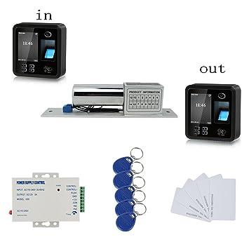 Amazon.com : Huella digital biométrica / RFID de doble vía ...