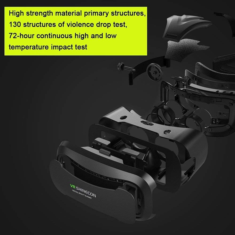 VR Headset Ying source 3D VR Headset Glasses Virtual Reality Mobile Phone 3D Movies for iPhone 6s/6 plus/6/5s/5c/5 Samsung Galaxy s5/s6te4te5 and Other 4.7''-6.0'' Cellphones