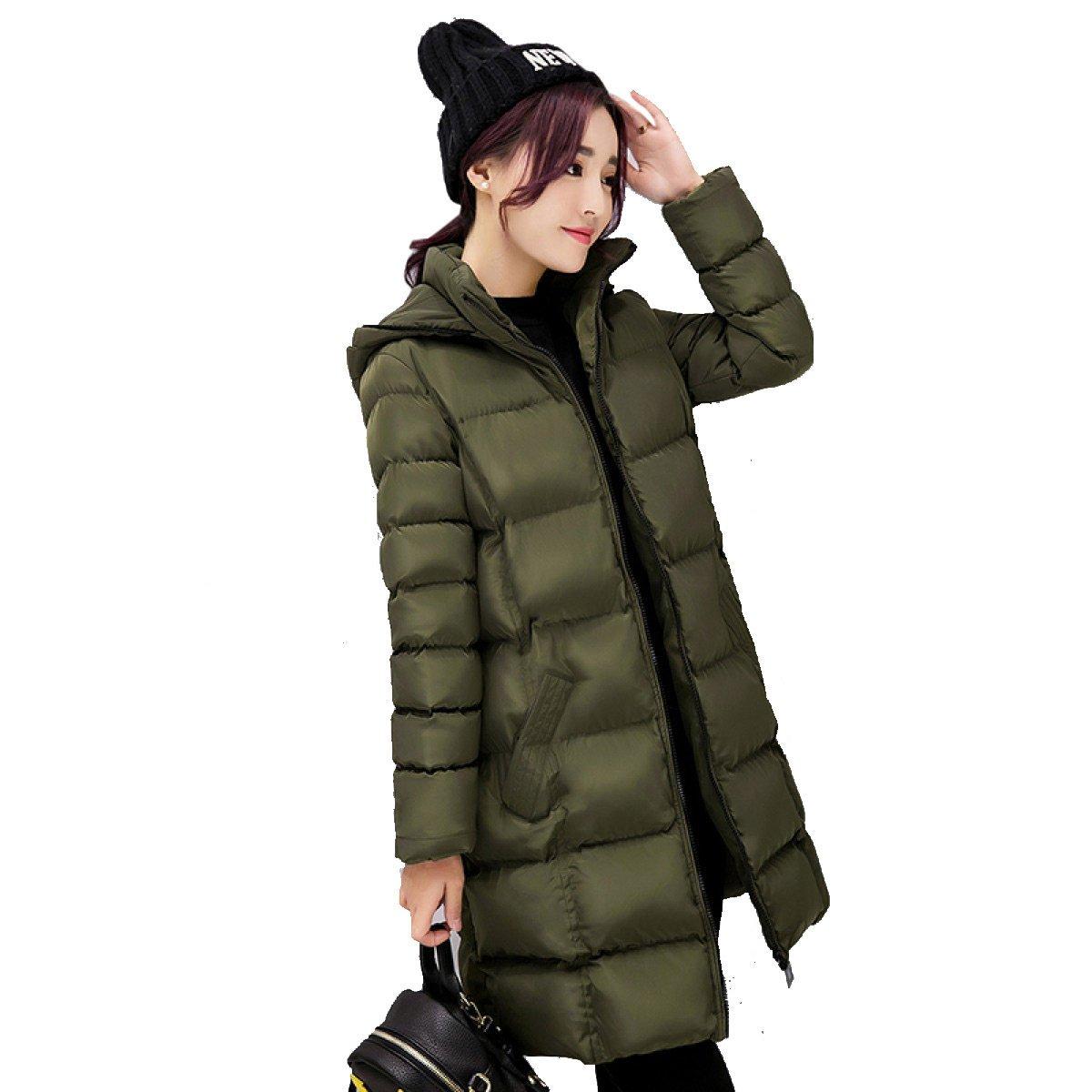 B X-grand nihiug Plume Coton Femelle Moyen Long Coréen Slim Pain Veste d'hiver Les Les dames Down veste lumière Mode Sauvage Chaud,A-L