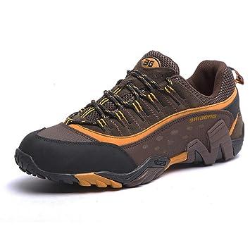 2017 Automne Chaussures De Randonnée En Plein Air Couples De Randonnée Et De Randonnée Chaussures De Marche Antidérapante Imperméable 38-44 (Color : Dark blue, Taille : 42)