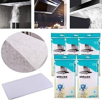 INTVN 10 Filtros para Campana Extractora de Papel de Cocina Universal Filtros para Grasa y Olores para Campana Extractora Filtros de aceite de algodón absorbentes 40*50CM: Amazon.es: Grandes electrodomésticos