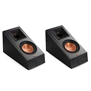 Klipsch RP-500SA Dolby Atmos Surround Sound Speakers (Ebony)