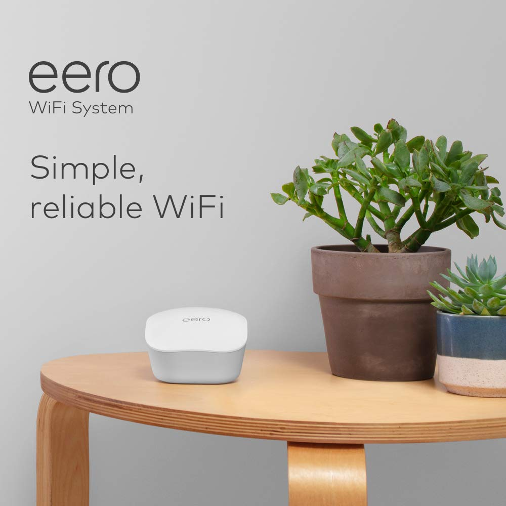 Introducing eero mesh WiFi system – WiFi extender / router for whole home coverage (3-pack)