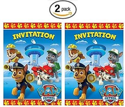 Amazon Com Paw Patrol Party Invitations 16ct Toys Games