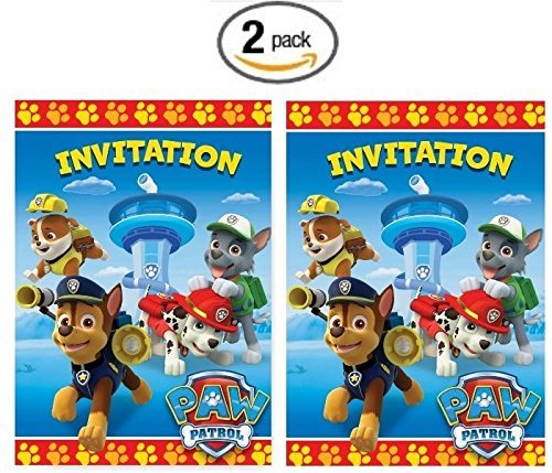Paw Patrol 8ct Invitations - Pack of 2 -