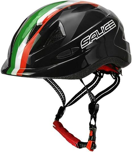 salice Casco para Bicicleta Junior TG.46 – 54 Negro Italia Unisex ...
