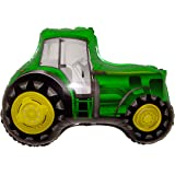 """FARM TRACTOR (GREEN) 28"""" ANTI-GRAVITY FLOATING TOY - Amazing STRING-LESS HOVERING ZERO-G Balloon, Flying Country Farm Vehicle Birthday Party Favor"""