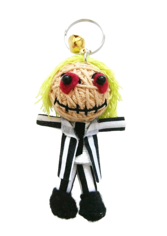 Amazon.com: Beetlejuice Voodoo Cadena Llavero con muñeca ...