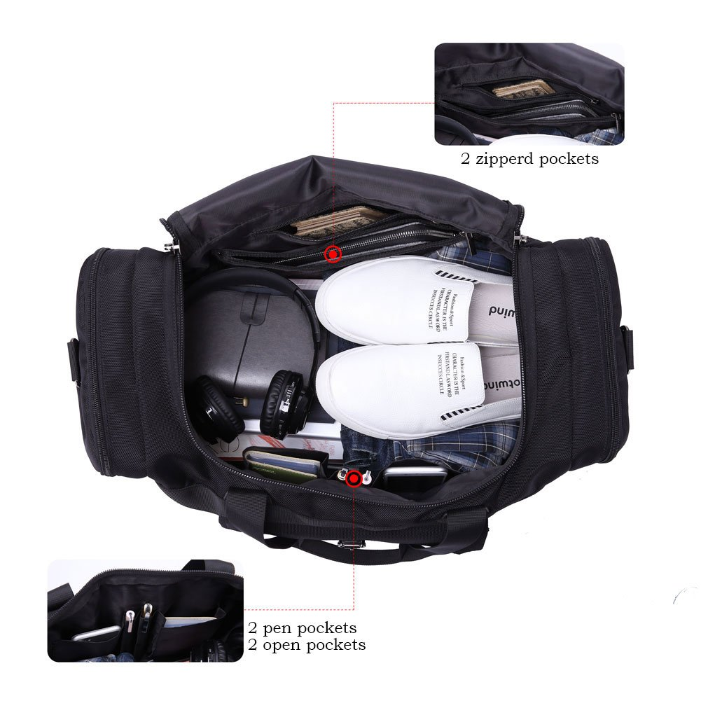 6267181fb5ca Item for sale. Domila travel duffel bag 21   large unisex weekender bag  carry-on luggage tote tsa friendly ...