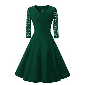 Damen Kleider, GJKK Damen Elegant Abendkleid Cocktailkleid Vintag ...