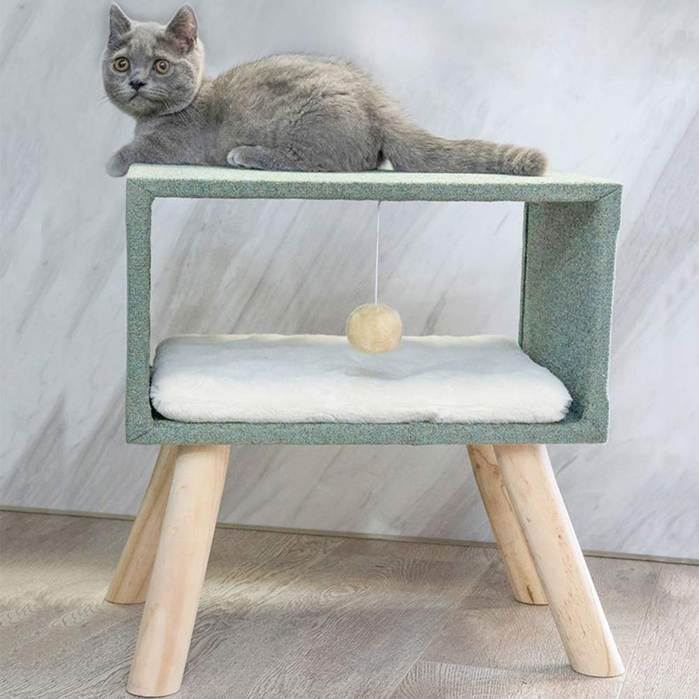 猫の家具、純木猫のクライミングフレーム、猫の巣、猫の木、猫ジャンプ台サイザル、猫スクラッチコラム、猫のおもちゃ B07QBMF9BS C  C