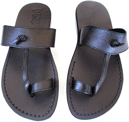 SANDALIM Men's Genuine Leather Sandals, Flip Flops, Biblical Sandals, Jesus Sandals, Empire Style