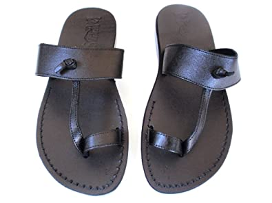 great prices 60% cheap soft and light SANDALIM Men's Genuine Leather Sandals, Flip Flops, Biblical Sandals, Jesus  Sandals, Empire Style