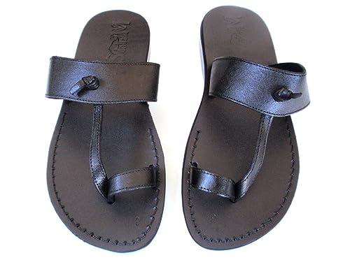 29960a2a1bb23 SANDALIM Men's Genuine Leather Sandals, Flip Flops, Biblical Sandals, Jesus  Sandals, Empire Style